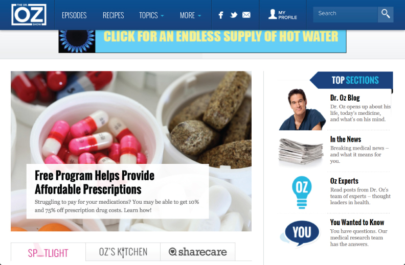 Dr. Oz Blog